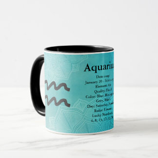 Zodiac Horoscope Astrology Sign Aquarius Mug
