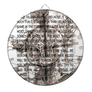 Zodiac killer dartboards