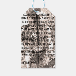 Zodiac killer gift tags