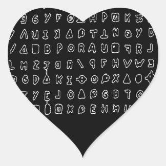Zodiac killer heart sticker