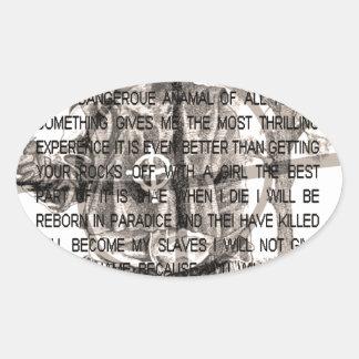 Zodiac killer oval sticker