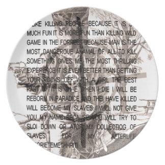 Zodiac killer plate