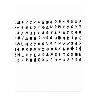 Zodiac killer postcard
