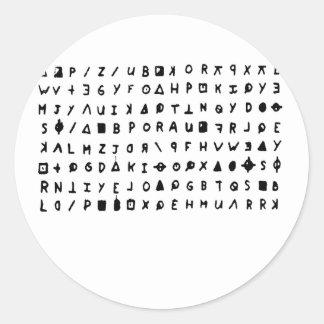 Zodiac killer round sticker