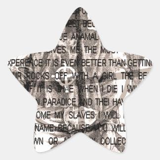 Zodiac killer star sticker