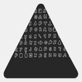Zodiac killer triangle sticker