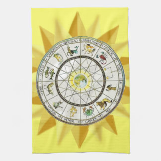 Zodiac kitchen towel