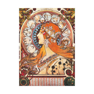 Zodiac La Plume Vintage Advertisement Canvas Print