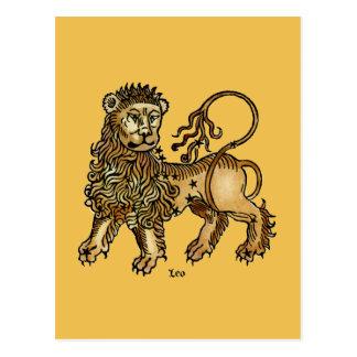 Zodiac: Leo, 1482 Postcard