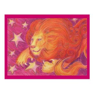 Zodiac Leo postcard