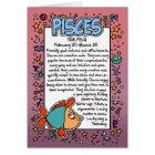 Zodiac - Pisces Fun Facts Card