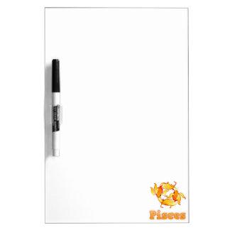 Zodiac Pisces illustration Dry Erase Board
