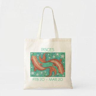 Zodiac Pisces tote bag text