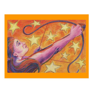 Zodiac Sagittarius postcard
