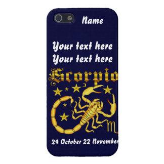 Zodiac Scorpio-Design-1 View Below Hints iPhone 5/5S Covers