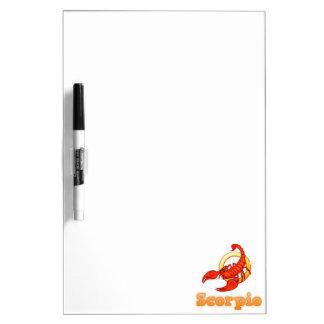 Zodiac Scorpio illustration Dry Erase Board