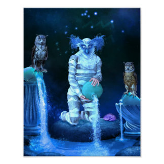 Zodiac Series: Aquarius Canvas/Poster Print