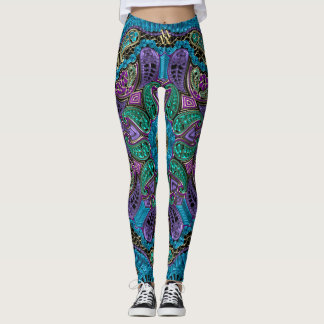 Zodiac Sign Aquarius Mandala Leggings