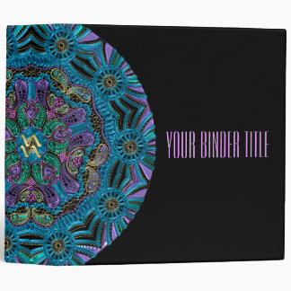 Zodiac Sign Aquarius Mandala Vinyl Binders