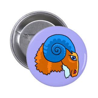 Zodiac sign Aries Pinback Buttons