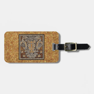 ZODIAC SIGN ARIES LUGGAGE TAG