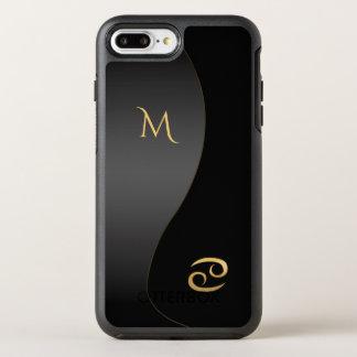 Zodiac Sign Cancer Black Monogram iPhone 7 Case