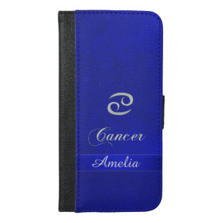 Zodiac Sign Cancer Blue Leather Look