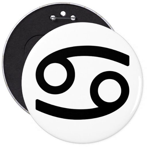 Zodiac sign Cancer Pinback Button