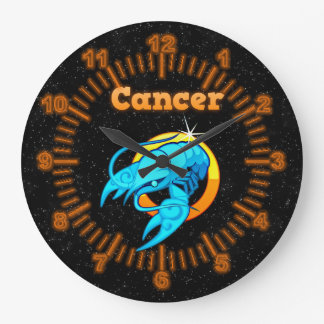 Zodiac sign Cancer Large Clock