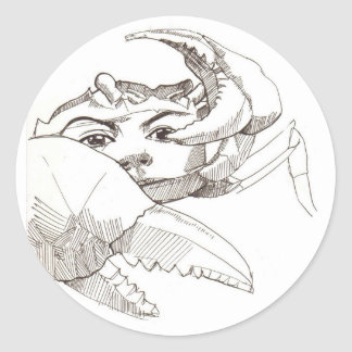 Zodiac Sign : CANCER the crab Round Sticker