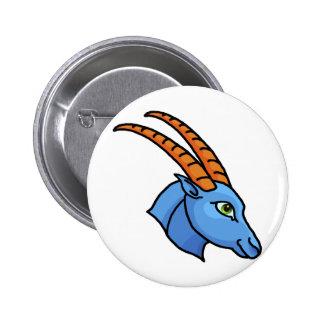 Zodiac sign Capricorn 2 Inch Round Button