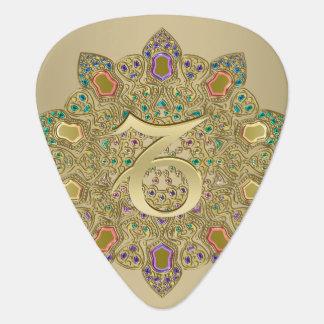 Zodiac Sign Capricorn Earth Mandala Guitar Pick