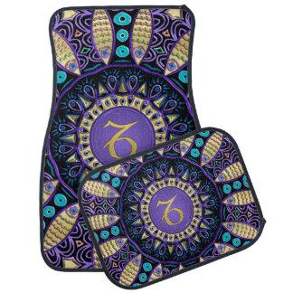 Zodiac Sign Capricorn Mandala Car Mat