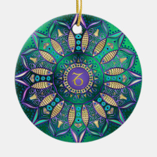 Zodiac Sign Capricorn Mandala Christmas Ornament