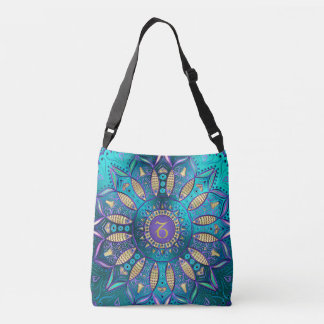 Zodiac Sign Capricorn Mandala Crossbody Bag