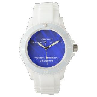Zodiac Sign: Capricorn Sporty White Silicon Watch