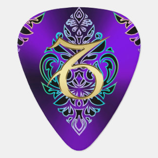 Zodiac Sign Capricorn Tribal Pattern Guitar Pick