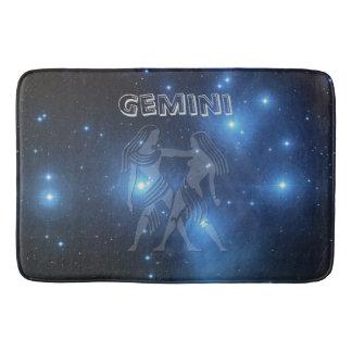Zodiac sign Gemini Bathroom Mat