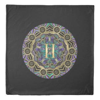 Zodiac Sign Gemini Mandala Duvet Cover