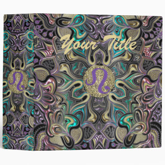 Zodiac Sign Leo Mandala 3 Ring Binder