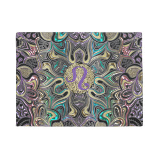 Zodiac Sign Leo Mandala Doormat