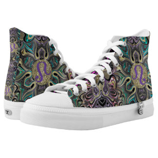 Zodiac Sign Leo Mandala High Tops