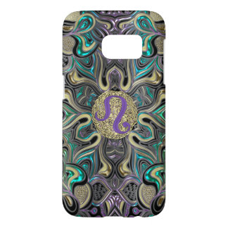 Zodiac Sign Leo Mandala Samsung Galaxy S7 Case