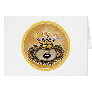 Zodiac Sign - Leo The Lion - July & August Card