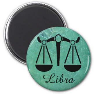 Zodiac Sign Libra Astrology Symbol Sapphire Magnet