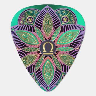 Zodiac Sign Libra Colorful Mandala Guitar Pick