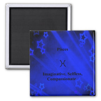 Zodiac Sign: Pisces 2 Inch Square Magnet