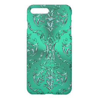 Zodiac Sign Pisces Metallic Green Damask iPhone 8 Plus/7 Plus Case