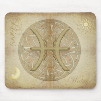 Zodiac Sign Pisces Mousepad