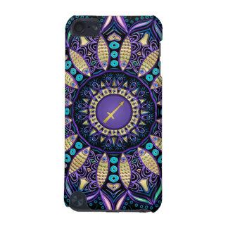 Zodiac Sign Sagittarius Mandala iPod Touch 5G Cases